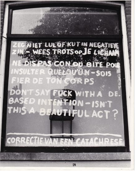 Michel Cardena, 'Correctie van een Catachrese', In-Out Center Amsterdam, 1973 Rozenstraat